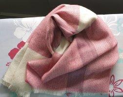 Primark Bufanda de lana color plata-rosa claro