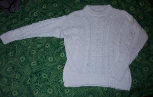 H&M Warkoczowy sweter biały