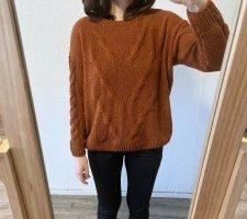 Bexleys Knitted Sweater russet-dark orange polyester