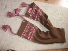 Protest Knitted Scarf brown-pink