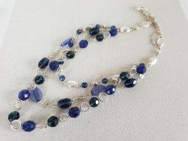 Wasserfall Kette Blau SilberHalsschmuck Halskette Schmuck