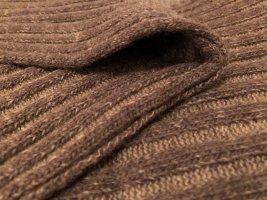 Bufanda de punto marrón