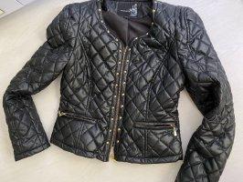 Attentif Veste en cuir synthétique noir