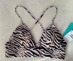 Wattiertes Triangel-Bikinitop H&M gr 38