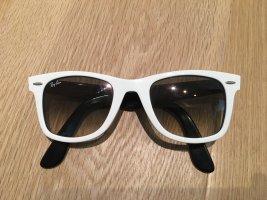Ray Ban Lunettes de soleil angulaires blanc-noir
