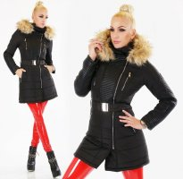 Giorgia Hooded Coat black