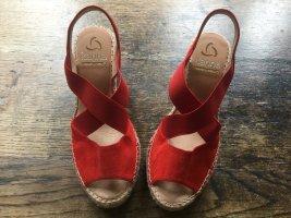 Kanna Sandales à plateforme rouge