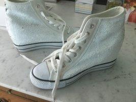 Café Noir Wedge Sneaker white