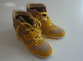 Wedges, echt Leder, beige, gelb, 39, Tango