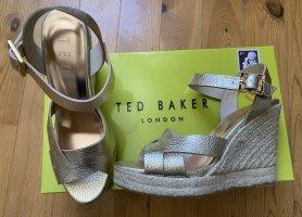 Wedges Plateau Sandalen Ted Baker Gold 39