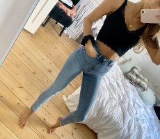 Weekday Hoge taille jeans lichtblauw-babyblauw