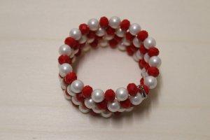 handmade Bracelet blanc-rouge