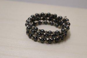 handmade Bracelet gris foncé-argenté