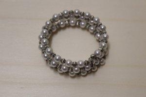 handmade Bracelet blanc-argenté