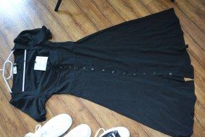 Weich fließendes Bardot-Kleid Jeans Industry Gr. 38 schwarz