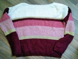 Pull en laine multicolore