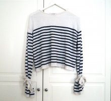 Edited Fine Knitted Cardigan natural white-dark blue