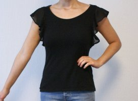 H&M Frill Top black
