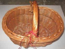 Bolso tipo cesta marrón