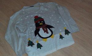 Weihnachts Pullover mit Pinguin Motiv