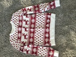 Christmasjumper white-red