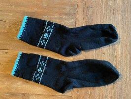 Legwarmers black-turquoise