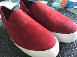 Calvin Klein Sneaker slip-on rosso scuro Pelle