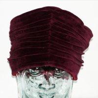 Fabric Hat carmine cotton