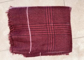 Zara Bufanda de lana burdeos