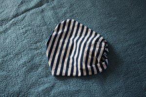 weiß-blau gestreiftes Haarband von C&A