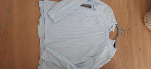 Esmara Blusa caída blanco-azul claro