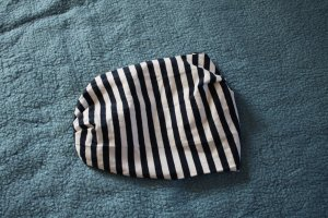 C&A Ribbon white-dark blue cotton