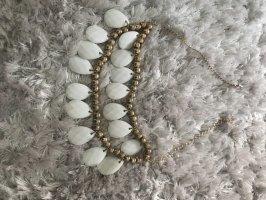 Collana bianco-oro