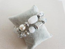 Weiß Silber Steinarmband Armschmuck Boho Neu Armband