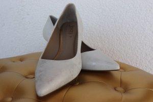 Weiß- silberne High Heels