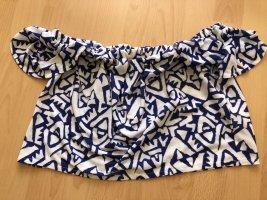 Weißblaue Bluse Zara TRF S