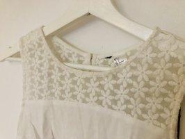 H&M Blouse en dentelle blanc
