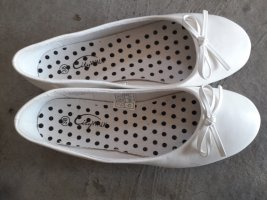City Walk Mary Jane Ballerinas white