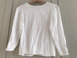 Weiße Bershka Bluse mit geknöpftem Rücken