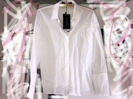 Zara Colletto camicia bianco Cotone