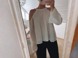 Weiße Coldshoulder Bluse | schulterfrei | Hollister