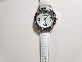 Jacques Lemans Montre avec bracelet en cuir multicolore