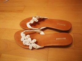 Weiße Flip-Flops / Zehensandalen von Graceland