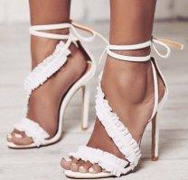 EGO Shoes Sandales à talon haut blanc