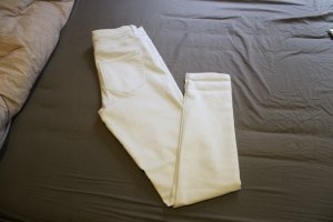Only Fashion High Waist Trousers white cotton