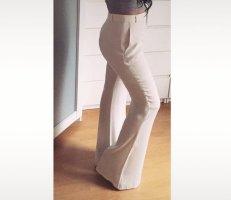 Zara Pantalon pattes d'éléphant blanc