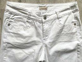 Apriori Jeansy ze stretchu biały Bawełna