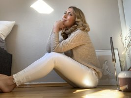 Zara Drainpipe Trousers white
