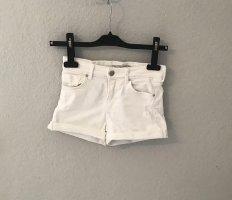 Bershka Short en jean blanc coton