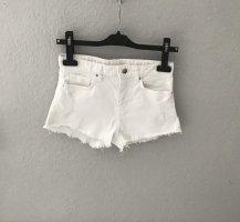 H&M Short en jean blanc coton